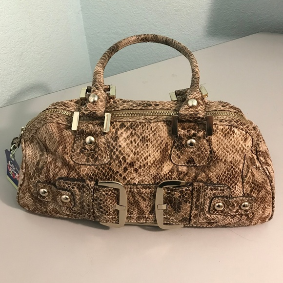 Guess HandbagPurseSatchel (Snake skinPython print) for